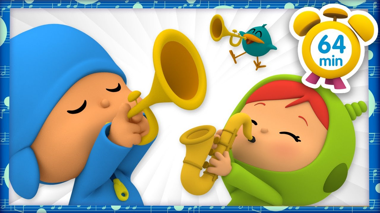 🎷  POCOYO ITALIANO- Gli strumenti dell'orchestra [64 min] | VIDEO e CARTONI ANIMATI per bambini