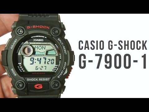 dff5cb42cbb1c Casio G-shock G-7900-1 Black   Unboxing - YouTube