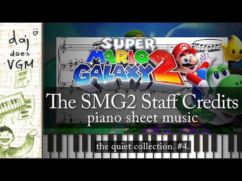"""Staff Credits"" (from ""Super Mario Galaxy 2"") || Piano Sheet Music! :)"