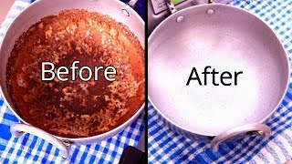 How to clean Burnt Pan Easily | How to clean a Burnt vessel / cooker / kadai / pot | Clean Burnt Pot