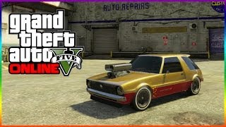 "GTA 5 Online ""Declasse Rhapsody"" Car Customization Showcase - Hipster DLC GOLF CART"