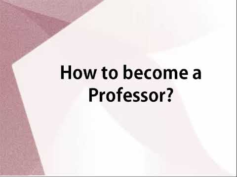 Skills Eligibility And Salaries Of A Professor