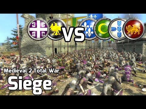 Medieval 2 Total War Online Battle #203 (2vs4 Siege) - 10,000 Knights