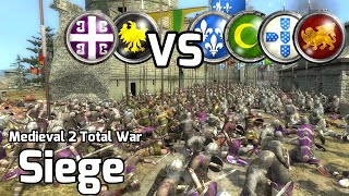 Medieval 2 Total War Online Battle #203 (2vs4 Siege) - 10,000 Knights