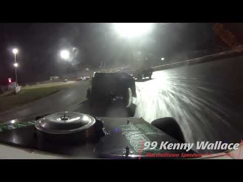 99 Kenny Wallace InCar Video From Marshalltown Speedway World Nationals