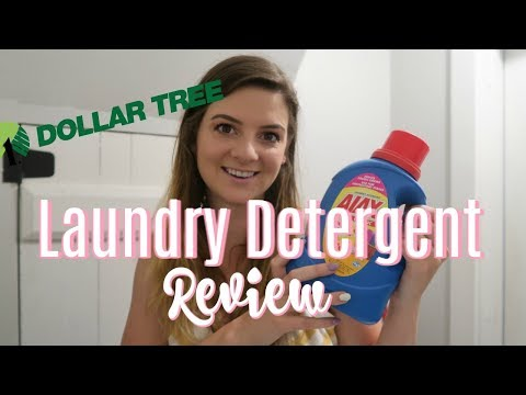 DOLLAR TREE LAUNDRY DETERGENT REVIEW