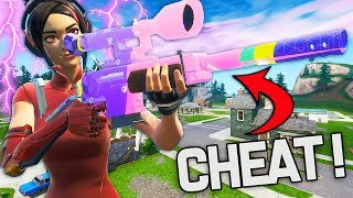 THE NEW SNIPER SEMI-AUTO IS BECAME TOO CHEATED ON FORTNITE!