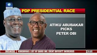 Presidential Race: Analysts Dissects Atiku-Peter Obi Pairing Ahead Of 2019 Pt.1 |Politics Today|