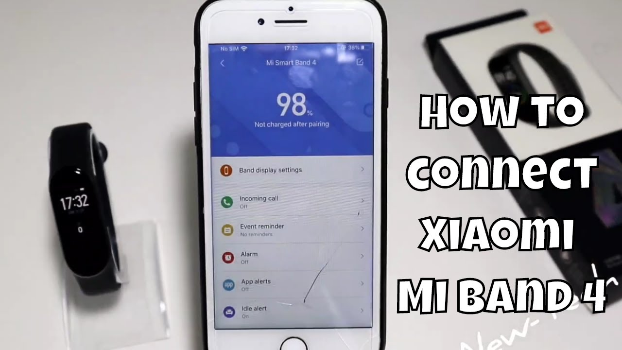 How To Connect Xiaomi Mi Band 4 With Iphone Mi Fit Ios App Iphone Smart Watch Youtube