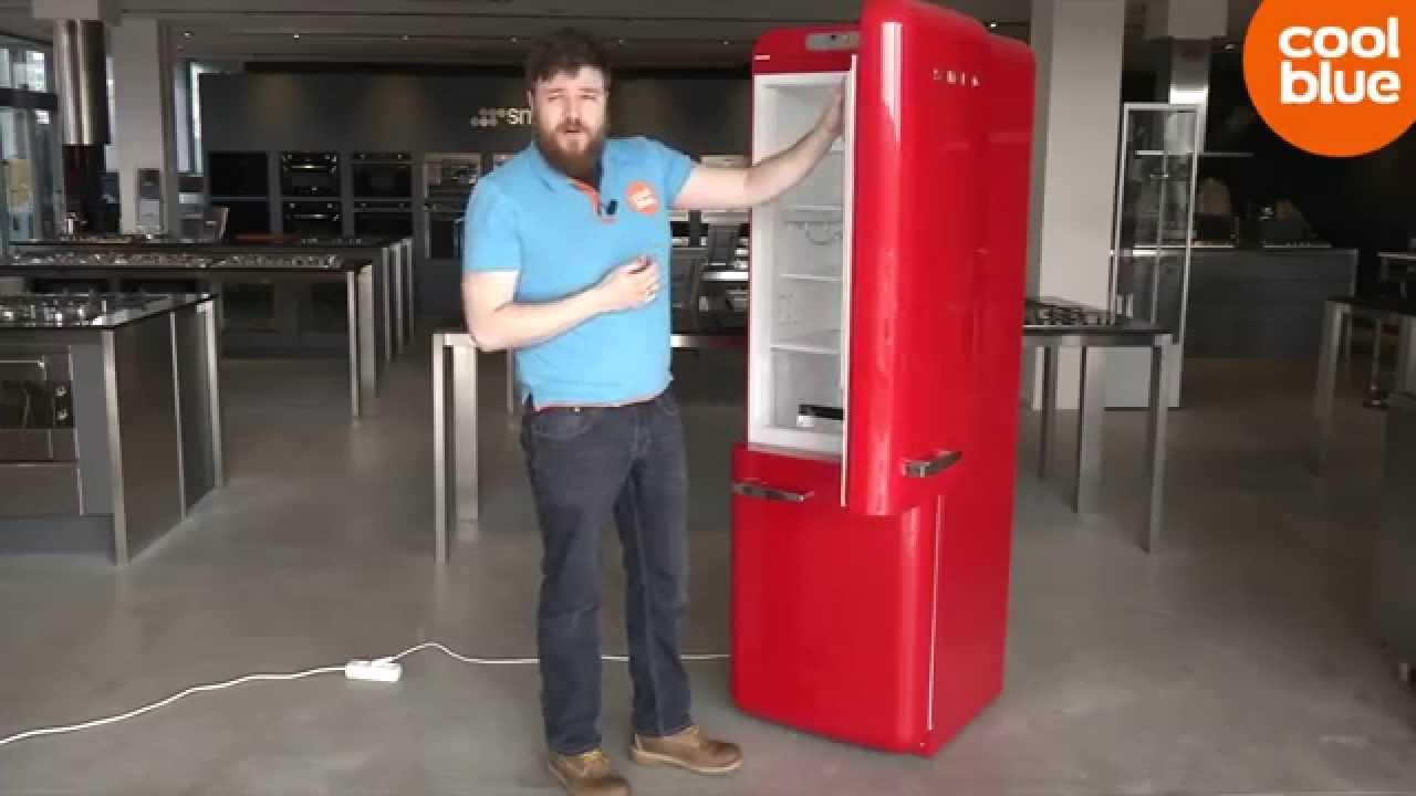 Retro Smeg Koelkast : Smeg fab koelkast productvideo nl be youtube