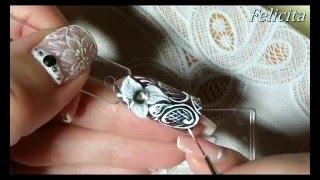 Дизайн ногтей. Лепка 4д гель и легкое кружево