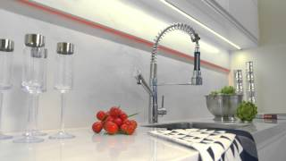 Video Betta Living Linear Handleless White Gloss Fitted Kitchen with Dallas Island download MP3, 3GP, MP4, WEBM, AVI, FLV Agustus 2018