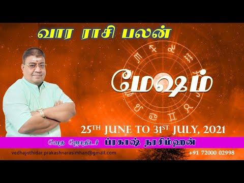 Download Mesham Rasi Weekly Palan 25th July to 31st July, 2021 | Vedha Jothidar #weeklyrasipalan #rasipalan