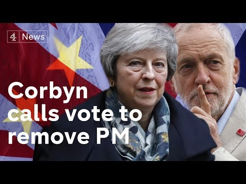 Corbyn calls vote to remove May – as no deal Brexit advances