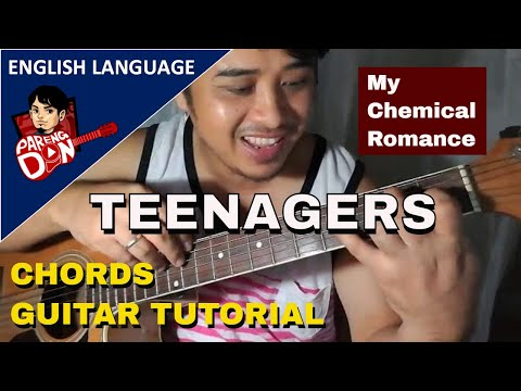 Guitar Tutorial Teenagers Chords My Chemical Romance Youtube