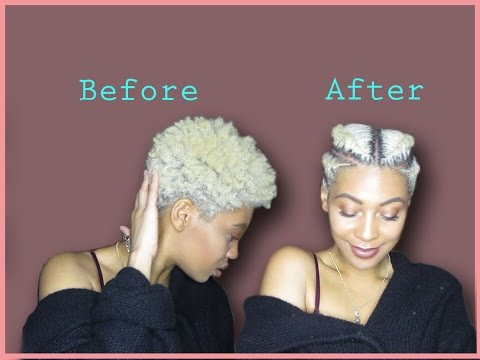 NATURAL HAIR: Easy Way To Style A TAPERED TWA| FAUX UNDERCUT | FLAT TWISTS/BRAIDS on 4C Hair |J MAYO