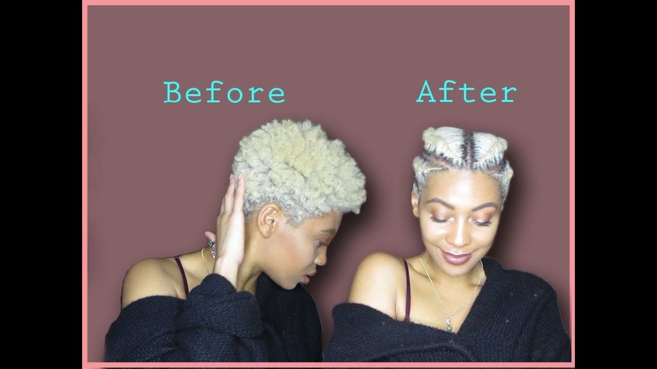 Natural Hair Easy Way To Style A Tapered Twa Faux
