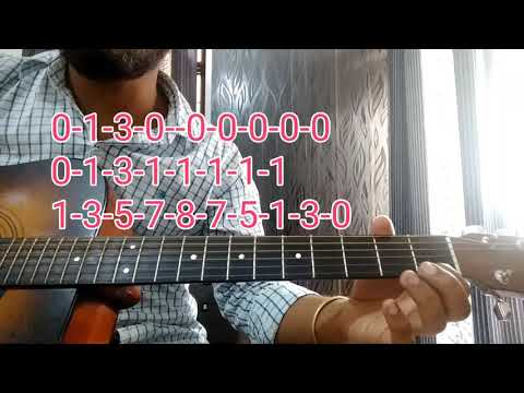 Single string Lead/Tabs -Very Famous song - Gulabi Aankhen - complete Guitar lesson For absolute Beg