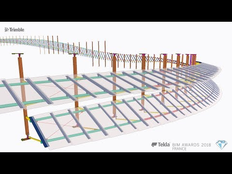 Tekla France BIM Awards 2018 - VIRY : Réhabilitation du centre commercial CAP 3000 Rubans