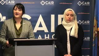 Victim of anti-Muslim attack press conference