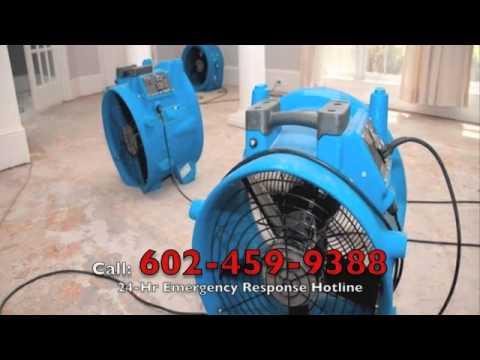 Water Damage Restoration Phoenix AZ (602) 459-9388 - Emergency Water Extraction