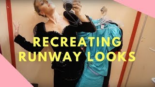 RECREATING RUNWAY LOOKS WITH THRIFT STORE FINDS// GUCCI