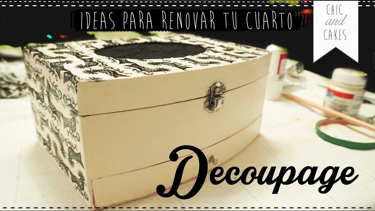 Diy ideas para decorar el cuarto 1 joyero con - Ideas para decorar con espejos ...