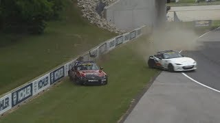 Global MX-5 Cup 2018. Race 1 Road America Grand Prix. Crash