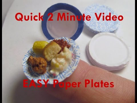 Quick and Easy DIY Paper Dollhouse Miniature Plates