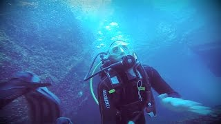 Scuba Diving ANCIENT SEA CAVES in Ponzo Italy!