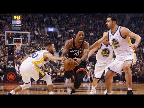 Warriors Score 81 in 1st Half! DeMar DeRozan 42 Points! 2017-18 Season