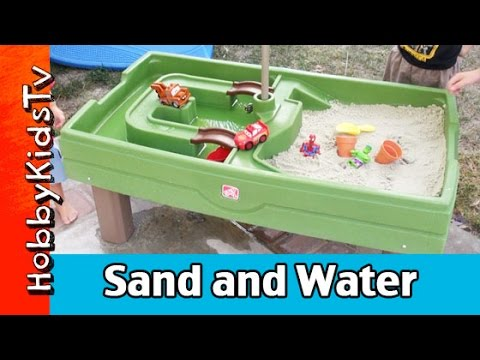 Water and Sand Activity Center with CARs Toys by HobbyKidsTV