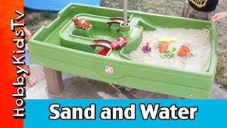 CAR TOYS! Hulk Smash Sand + Water Activity Center Spider-Man Hulk Disney Cars Step 2 HobbyKidsTV