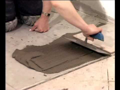 видео: Плитка напольная укладка своими руками Обучение.