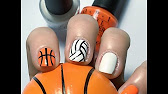 Thunder nails nba basketball inspired nail design youtube 306 prinsesfo Image collections