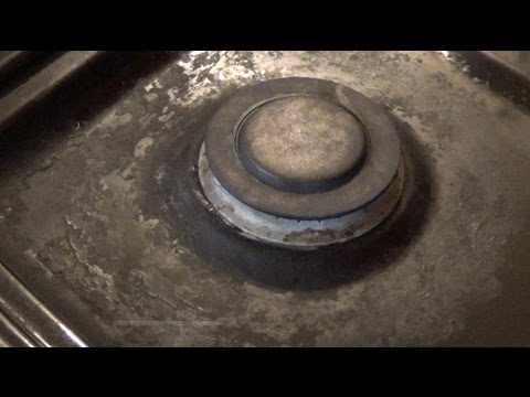 How to Clean Your Crusty Stove Top, using Baking Soda and Hydrogen Peroxide