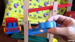 Wooden Car Slide Toy