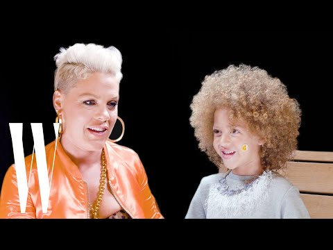 Pink Gets Interviewed by a Cute Little Kid | Little W | W Magazine