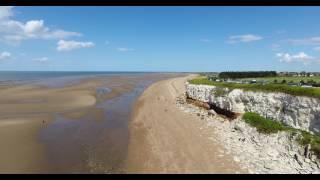 Cinematic Drone Flight Over Hunstanton, Norfolk Coast 4K