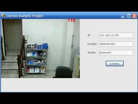 OpenCv with Panasonic IP Camera - People Count
