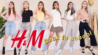 BACK TO SCHOOL H&M TRY ON HAUL (that are dress code appropriate 😱)