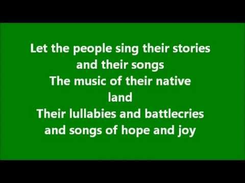 Let the people sing with lyrics/wolfe tones