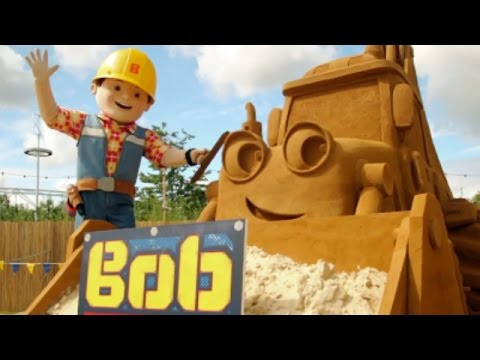 Bob the Builder's GIANT Sand Sculpture!