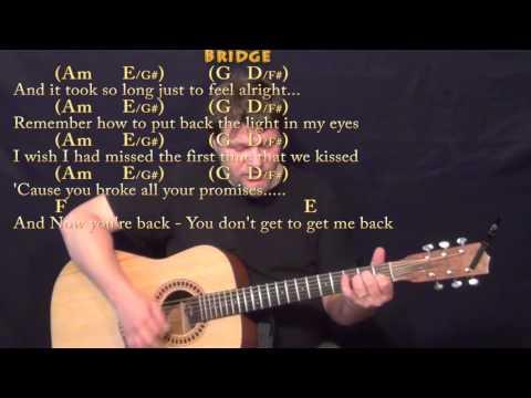 Jar of Hearts (Christina Perri) Strum Guitar Cover Lesson in C with Chords/Lyrics