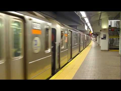 IRT Broadway Line: R62 3 Train at South Ferry (Uptown Bound-Weekend)