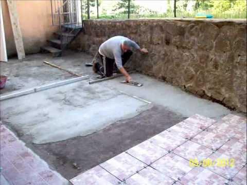 Edilizia.roma massetto di cemento posa in opera piastrelle