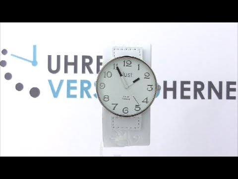 Just Uhr Weiß Leder Wh Armbanduhr Rund Damen 48 S10249 Xxl 8n0XwOPk