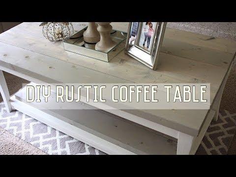 DIY Farmhouse Rustic Coffee Table