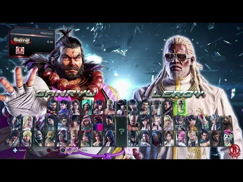 Tekken 7 Season 3 Updated Character Selection Screen With New DLC Ganryu & Leroy [1080p 60fps]