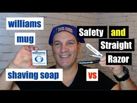 Williams Mug Shaving Soap Vs Safety And Straight Razor !